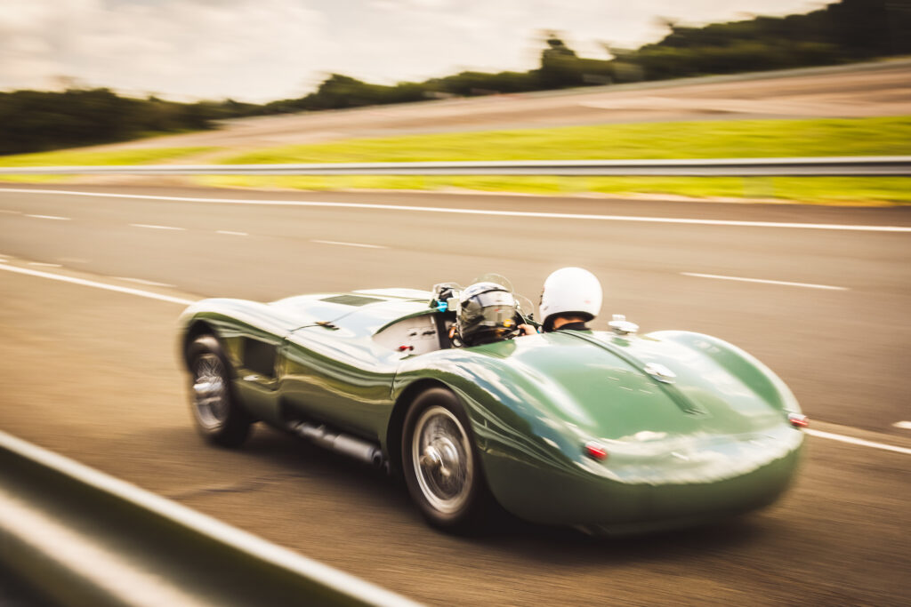 C-type on track rear view