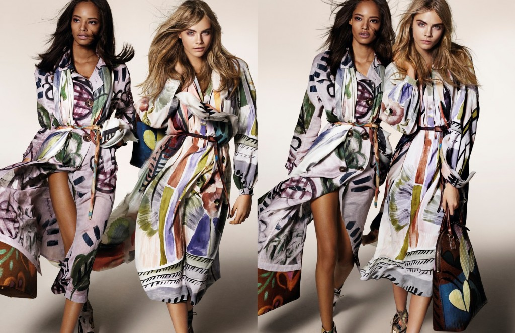 Cara Delevingne and Malaika Firth featuring in theBurberry Autumn_Winter 2014 Campaign (strictly on embargo until Tuesday 10 June 2014) (Large)