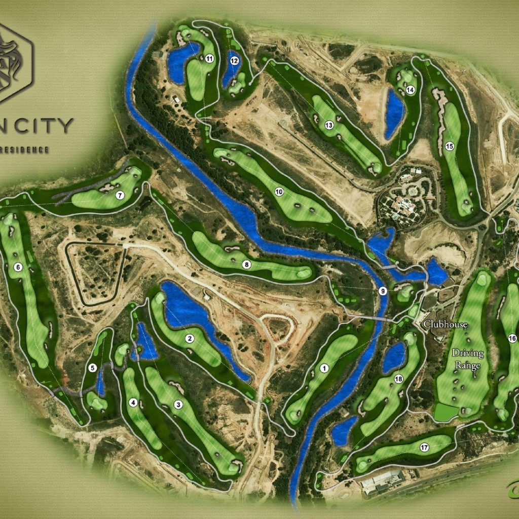 Steyn City Golf Course Overview Diagram  Large