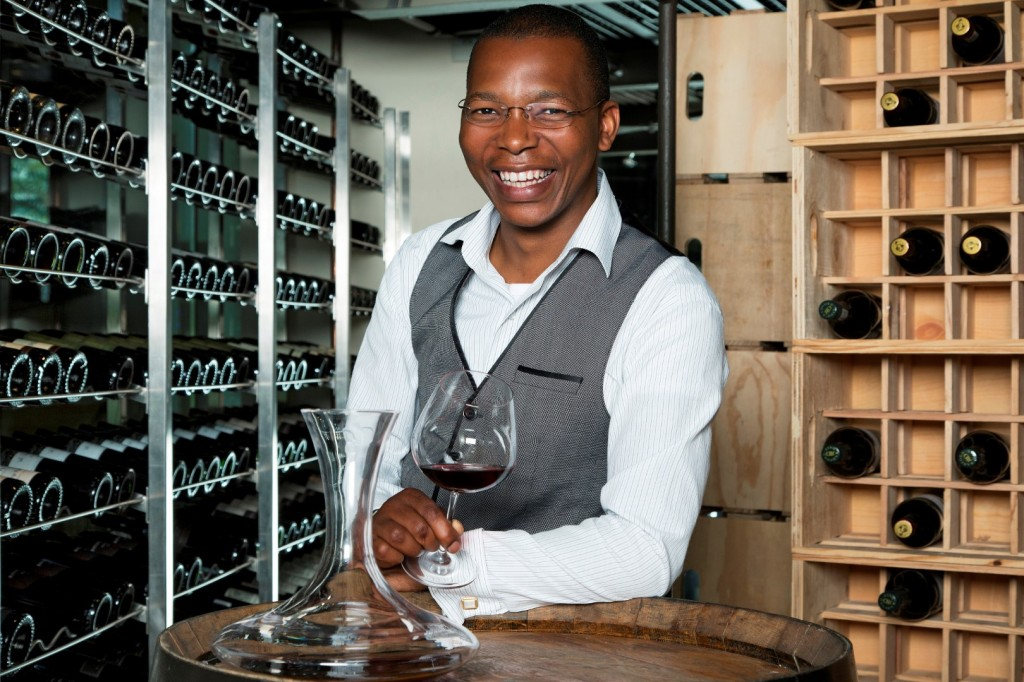 Head Sommelier - Luvo Ntezo in wine loft (Large)