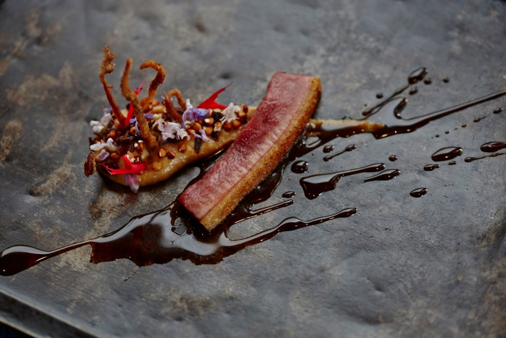 Josstenberg vlakte duck, boerenkinders puree, grapes (Large)