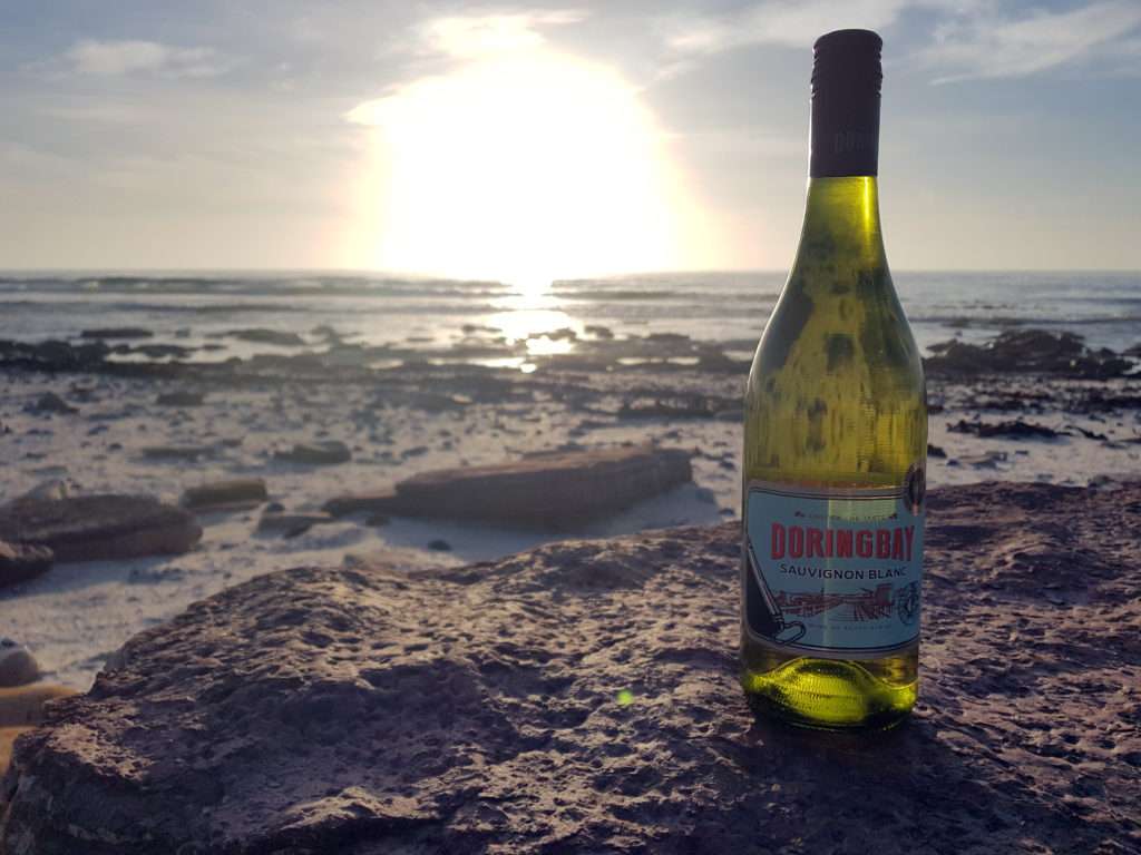 Doringbay Sauvignon on the beach