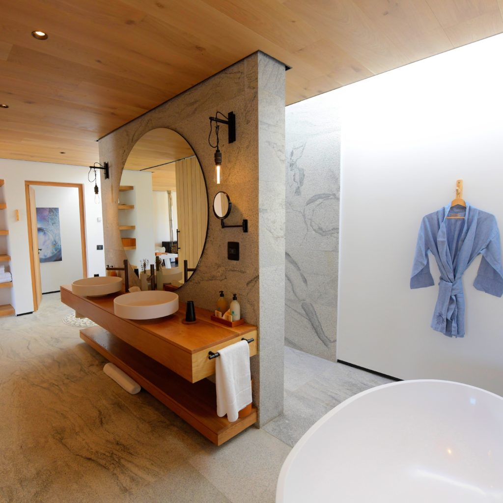 A Luxurious Bathroom Of One Of The Suites.