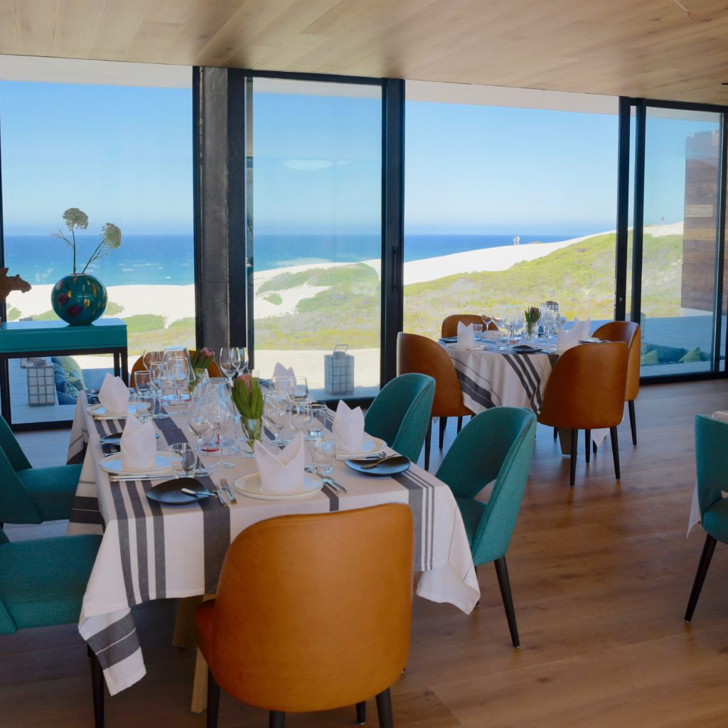 A Restaurant With A View At Morukuru Beach Lodge