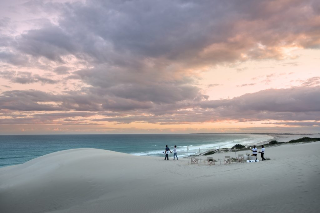 Sundowners 2 on the dunes with Morukuru Beach Lodge