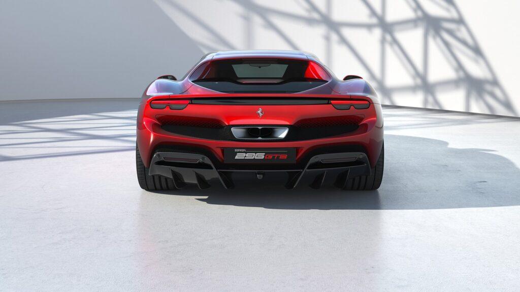 Ferrari 296 GTB Rear View