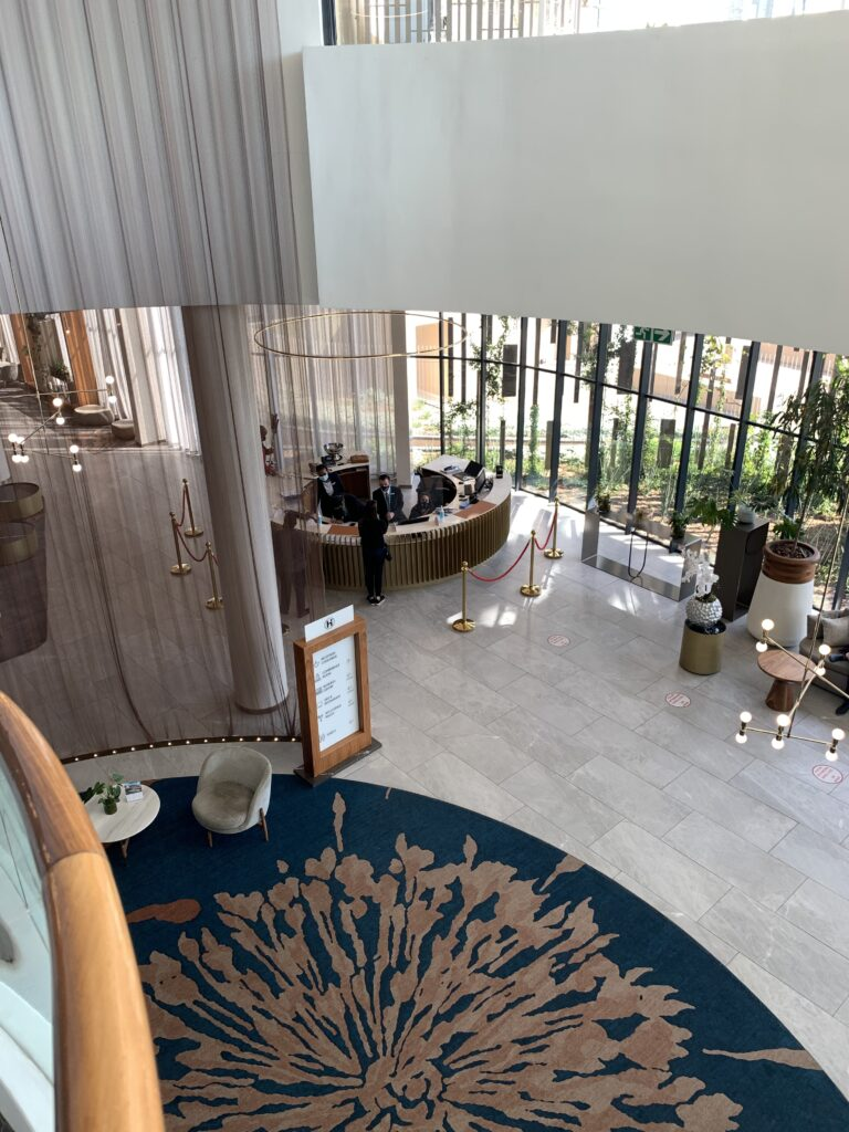 Lobby of the Houghton Hotel